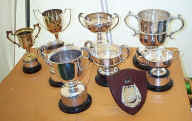 Some of the award cups.